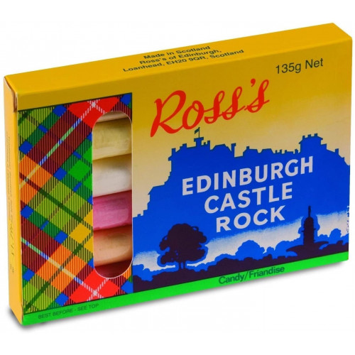 Ross's of Edinburgh Edinburgh Castle Rock 6 Stick Castle Rock Gift Box, 135g